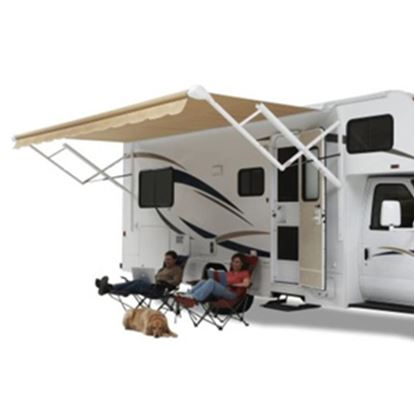 Picture of Carefree Eclipse/Travel'r/Pioneer Black/Gray Vinyl 14'L X 8'Ext Adj Pitch Springless Patio Awning QJ148D00 00-0720