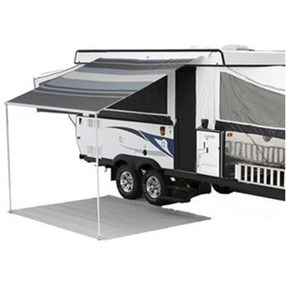 "Picture of Carefree Campout Black/Gray Vinyl 9' 10""L X 8'Ext Adj Pitch Manual Bag Awning 981188D00 00-1019"