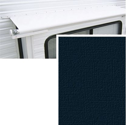 "Picture of Carefree  10' 6"" w/ 42"" Ext Solid Black Denim Vinyl Slide Out Awning Fabric DG1266242 00-1442"