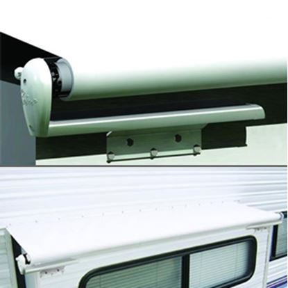 "Picture of Carefree Slideout Cover (TM) Solid White Vinyl 106-113"" Roof X 42""Ext Power Slide-Out Awning LH1130042 00-7938"