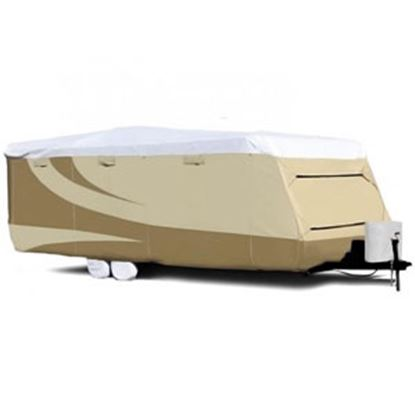 """Picture of ADCO Tyvek (R) Plus Gray Polypropylene Cover For 15' 1""""-18' Travel Trailers 34839 01-0129"""