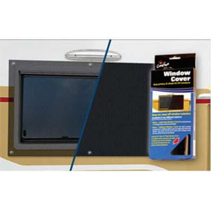 Picture of Carefree Window Cover Solid Black Vinyl Window Cover 902001BLK 01-0881