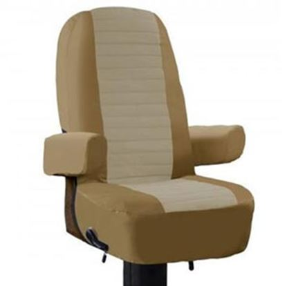 Picture of Classic Accessories  Single Tan RV Captain's Chair Seat Cover 80-112-012401-00 01-0973