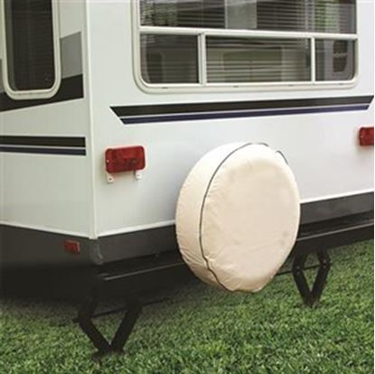 """Picture of Camco  Colonial White 27"""" Spare Tire Cover 45356 01-1389"""