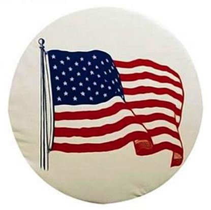 """Picture of ADCO  27"""" Size J Flag Spare Tire Cover 1787 01-1850"""
