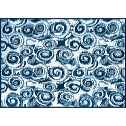 Picture of Camco  8' x 16' Blue Swirl Reversible Camping Mat 42841 01-2951