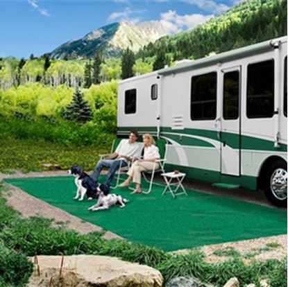 Picture of Prest-o-Fit  6' x 15' Green Camping Mat 2-0150 01-3040