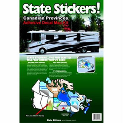 Picture of State Stickers  Permanent State Self Adhesive Vinyl Sticker 800 03-0169
