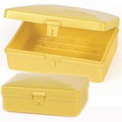 Picture of Camco  Yellow Plastic Box Style Soap Holder 51356 03-0345