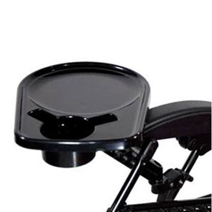 """Picture of Faulkner  13""""L x 9.75""""W 5 lb Black Plastic Rotatable Chair Side Tray 48945 03-0363"""