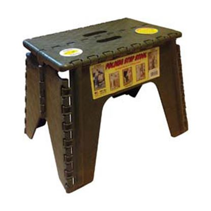 "Picture of B&R Plastics EZ-Foldz 12""H Camouflage Plastic Folding Step Stool 103-6CF 03-0589"