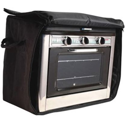 "Picture of Camp Chef  13-1/2""L x 21-1/2""W x 18-1/2""H Black Polyester Campfire Cookware Storage Bag CBOVEN 03-0841"