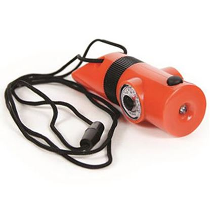 Picture of Camco  Orange Plastic Survival Whistle w/ Lanyard 51364 03-1183