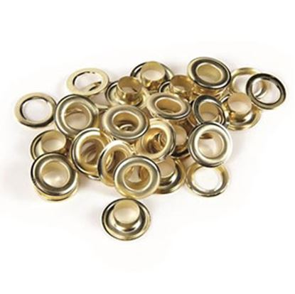 Picture of Camco  20-Pack Brass Fabric Grommet 51328 03-1471