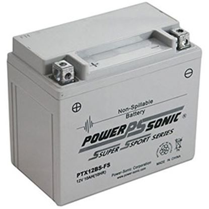 """Picture of Power-Sonic  12V 6""""L X 3-7/16""""W X 5-1/8""""H Battery PTX12BS-FS 03-1884"""