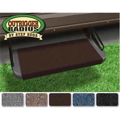 "Picture of Prest-o-Fit Outrigger (R) Chocolate Brown 18"" Entry Step Rug 20315 04-0288"