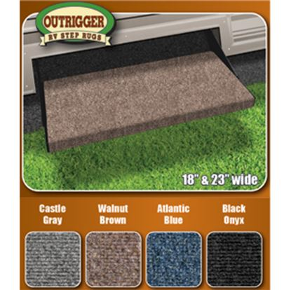 "Picture of Prest-o-Fit Outrigger (R) 18"" Castle Gray Outrigger Entry Step Rug 2-0313 04-0308"