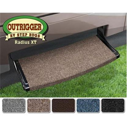 """Picture of Prest-o-Fit Outrigger (R) Black Onyx 22"""" Radius XT Entry Step Rug 20384 04-0336"""