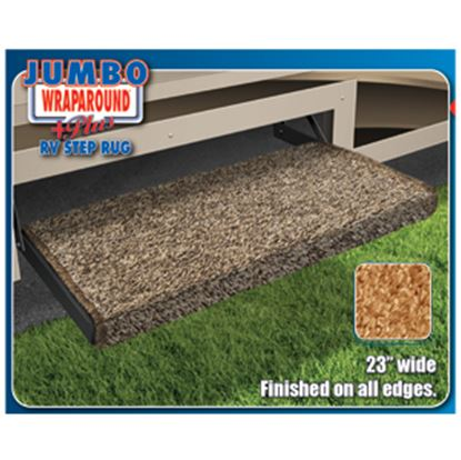 """Picture of Prest-o-Fit Jumbo Wraparound (R) Plus Black 23"""" Entry Step Rug 2-0050 04-0361"""