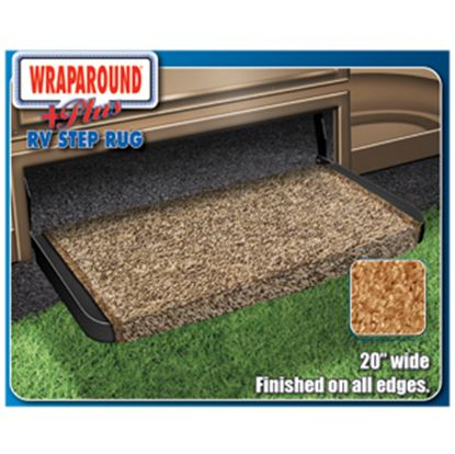 "Picture of Prest-o-Fit Wraparound (R) Plus Black 20"" Entry Step Rug 2-1072 04-0423"