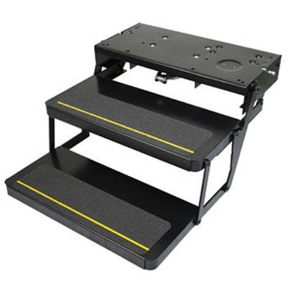 """Picture of Kwikee Series 32 24""""W x 9""""D Double Electric Entry Step 3722617 04-6598"""
