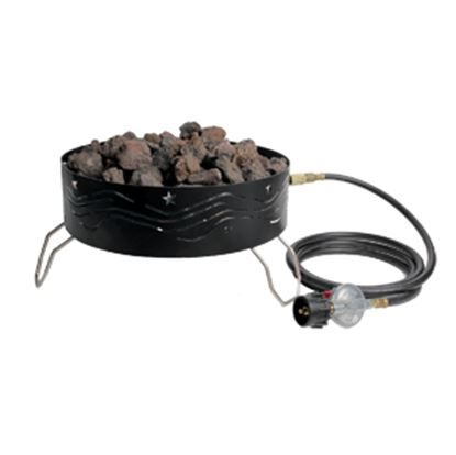 """Picture of Camco  Steel 14-1/2"""" Round LP With Ceramic Logs Fire Pit 58041 06-0105"""