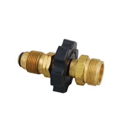 "Picture of Marshall Excelsior  #60 MPOL Inlet x 1""-20 MNPT Outlet Brass LP Adapter Fitting ME475P 06-0240"