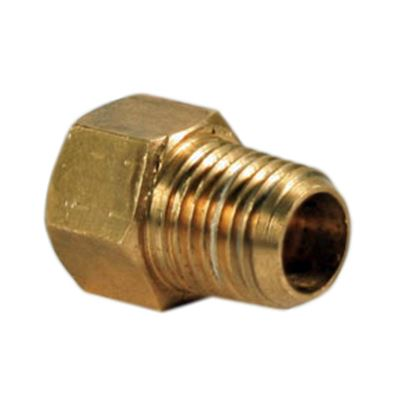 """Picture of Camco  1/4"""" Male NPT x 1/4"""" Female Inverted Flare Brass LP Hose Connector 59953 06-0530"""
