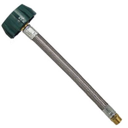 """Picture of MB Sturgis  1/4"""" Male Pipe Thread X 15""""L LP Feed Hose 100868-15-MBS 06-0709"""
