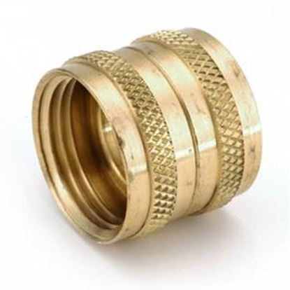 """Picture of Anderson Metal LF 7S3 Series 3/4"""" FGHPT Swivel Nut Brass Fresh Water Straight Fitting 707403-12 06-1318"""