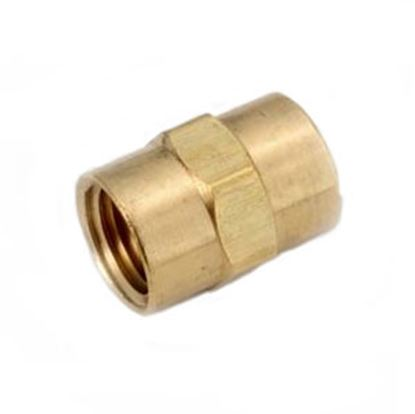 "Picture of Anderson Metal LF 7103 Series 3/8"" FPT Brass Fresh Water Straight Fitting 706103-06 06-9201"