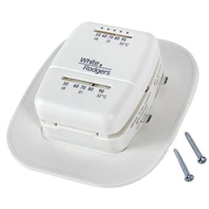 Picture of Camco  White Single Stage Heat/Cool Mechanical Wall Thermostat 09221 08-0011