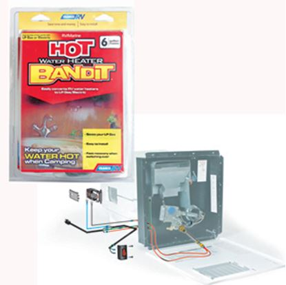Picture of Camco Hybrid Heat (TM) 6 Gal Stainless Steel 90 Deg To 150 Deg Water Heater Converter 11673 09-0575