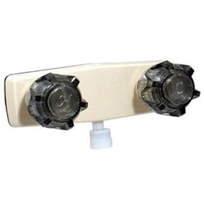 """Picture of Phoenix Faucets  4"""" Biscuit Plastic Shower Valve w/Black Knobs PF213142 10-0194"""