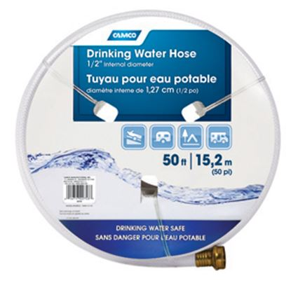 """Picture of Camco TastePURE (TM) 1/2""""x50' Fresh Water Hose 22753 10-0278"""
