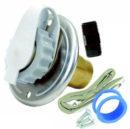 Picture of Valterra  Aluminum Flush Mount Fresh Water Inlet w/Check Valve A01-0172LFVP 10-0789