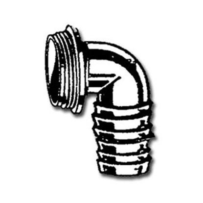 """Picture of Lasalle Bristol  1-1/4""""Barb x 1-1/4""""MPT Fresh Water Tank Fill Elbow Adapter 74BPC80 10-0973"""