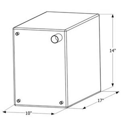 "Picture of ICON  17"" x 14"" x 10"" 10 Gal Fresh Water Tank w/ Fittings 12464 10-1610"