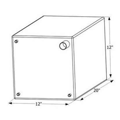 "Picture of ICON  20"" x 12"" x 12"" 12 Gal Fresh Water Tank w/ Fittings 12470 10-1624"