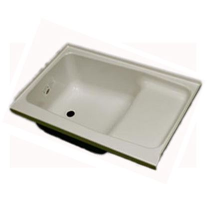 "Picture of Specialty Recreation  Parchment 24""x36"" LH Drain ABS Step Bathtub ST2436PL 10-1844"