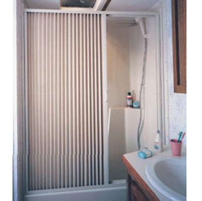 """Picture of Irvine  36"""" x 57"""" Ivory PVC Shower Door 3657SI 10-2066"""