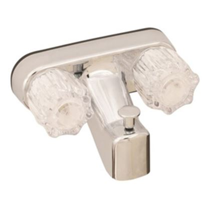 "Picture of Empire Brass Ultra Line Chrome w/Clear Knobs 4"" Lavatory Faucet U-YJW41VB 10-2343"