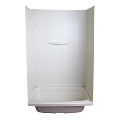 "Picture of Better Bath  1-Piece Parchment 24""L x 36""W x 59""H Shower Surround 209461 10-5737"