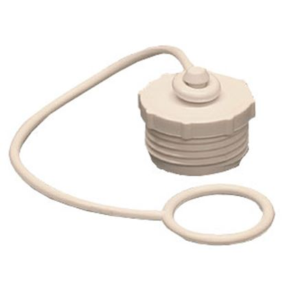 "Picture of Aqua Pro  Fresh Water Hose Cap For 3/4"" Male Garden Hose w/ Lanyard 27838 11-0507"