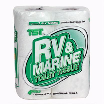 Picture of Camco TST (TM) 4-Rolls 1-Ply Toilet Tissue 40276 13-0183