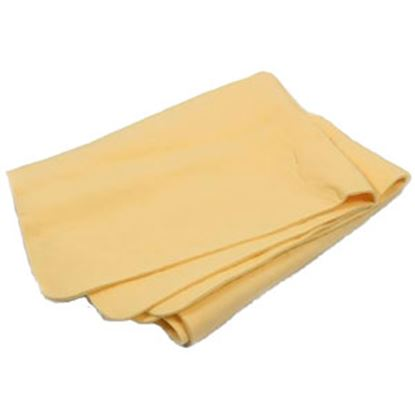 "Picture of Camco  26"" x 17"" Yellow Sheepskin Chamois 43575 13-1611"