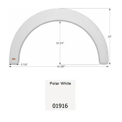 Picture of Icon  Polar White Single Axle Fender Skirt For Fleetwood Brands 01916 15-0445