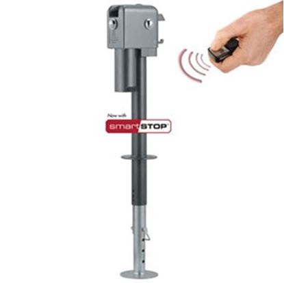 Picture of Husky Towing Brute Silver 4500 Lb Electric Trailer Jack 87641 15-1463