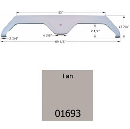Picture of Icon  Tan Tandem Axle Fender Skirt For Glendale Brands 01693 15-1644