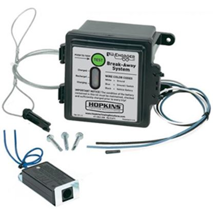Picture of Hopkins Breakaway Engager (TM) Trailer Breakaway Kit w/Battery Charger for 1-2 Axles 20099 17-0209